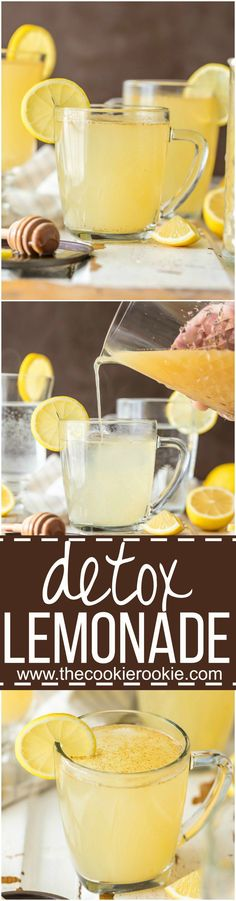Achieve those New Years Resolutions with EASY DETOX LEMONADE! This Warm Detox Lemonade tastes great, is super simple, and will get you ready for Summer any time of year! - Detox For Youth Smoothie Detox, Juice Smoothie, Juice Diet, Cleanse Detox, Stomach Cleanse, Skin Detox, Health Cleanse, Diet Detox, Juice Cleanse