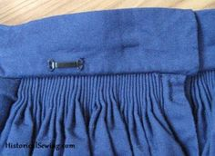 5 Tips to Keep Your Cartridge Pleats Looking Like Gathers | HistoricalSewing.com