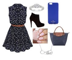 """""""Untitled #25"""" by sselmanagic on Polyvore featuring Bonbons, Kate Spade, Longchamp and Allurez"""