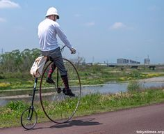 Penny Farthing Rider in Tokyo