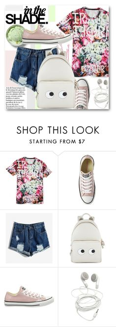 """Back to School"" by black-fashion83 ❤ liked on Polyvore featuring moda, Converse, BOBBY, Anya Hindmarch, women's clothing, women, female, woman, misses e juniors"