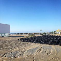 Todo listo para el #cinedeverano en la #playa
