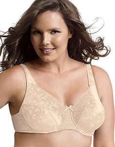 Playtex Secrets Signature Florals Fuller Underwire Bra_Natural Beige_42D ** See this great product.