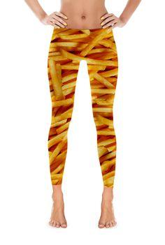 French Fry Leggings! Um these are super fun! Fries before guys! Hahaha #Leggings
