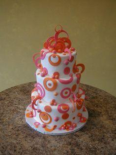 orange pink fondant | ... &tag=orange+modern+fondant+circles+hot+pink+creative+cakes+carrie+b