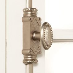 Signature Hardware Solid Brass Beaded Window Cremone Bolt in Polished Brass. This complete set will fit one window up to 6 foot tall and can be cut, if desired. Center plate with knob: W x H x D. Window Hardware, Home Hardware, Polished Brass, Solid Brass, Cremone Bolt, Bathtubs For Small Bathrooms, Door Furniture, Furniture Ideas, Bathroom Plants