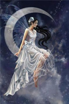 Silver moon fairy