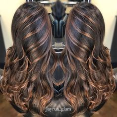 Ideas for hair caramel balayage color trends Hair Color Auburn, Auburn Hair, Hair Color Balayage, Hair Highlights, Hight Light, Light Curls, Caramel Hair, Caramel Balayage, Auburn Balayage