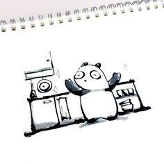 【一日一大熊猫】2015.11.6 夜のうちに片付け掃除をしておけば 朝はスッキリ、サッと外出できるね。 1日の始まりがスムーズだと嬉しいね。 そして簡単そうで、なかなかね。。。 #パンダ