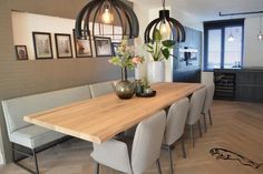 2 semi-detached house – under - Esszimmer Dining Corner, Small Dining, Dining Table, Home Living Room, Living Room Decor, Apartment Renovation, Dining Room Inspiration, Home Upgrades, Dining Room Design