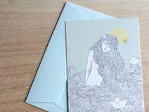 Postkarte Meermädchen