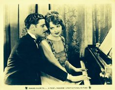 "Doris Kenyon and Ronald Colman in ""A Thief in Paradise"" (1925) ."