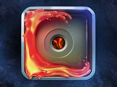 Lava Icon Experiment  by Dash