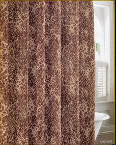 Patti LaBelle Leopard Print Microfiber Fabric Shower Curtain Safari Jungle - Shower Curtains