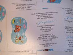 Finding Nemo Invitations Nemo Invitations Nemo Invite Nemo Birthday Party  Birthday Invitations Childrens Birthdays Finding Nemo