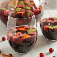 Pomegranate cranberry sangria - a festive winter cocktail perfect for holiday gatherings.