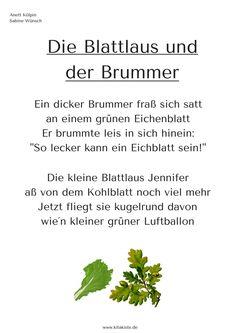 Gedicht Frühling Laus Käfer Kitakiste