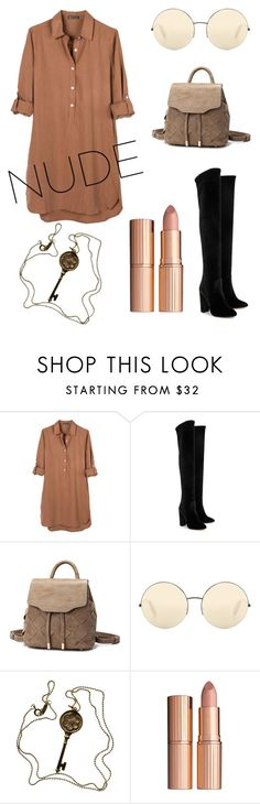 """Untitled #232"" by evelinqa on Polyvore featuring beauty, United by Blue, Aquazzura, Victoria Beckham, Tiffany & Co. and Charlotte Tilbury"