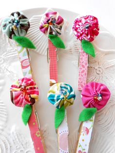 Clothes Pins Art Display Kit Flower Clips  Picture by Itsewbella, $11.00
