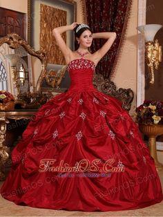 Vestidos de xv rojos con plateado