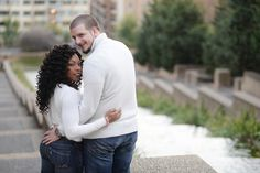 """{     SESSION IN MERIDIAN HILL PARK: DAVITTA + JASON    } ... """"Using a bit of their wedding day colors, Davitta and Jason wanted an engagement session that was a reflection of them and their big day. Maroon, a tulle skirt, and the beautiful outdoors make this e-session both beautiful and delightful. Take a look at Davitta and Jason's playful outdoor engagement session in Meridian Hill Park. Photos by Rhea Whitney Photography."""" -Bride-to-be: Davitta Callaham -Groom-to-be: Jason Kauffman…"""
