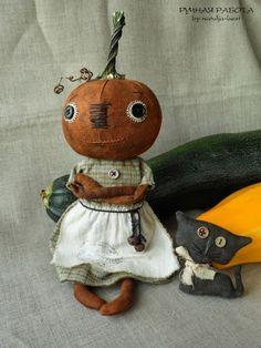 Rustic Halloween, Halloween Sewing, Halloween Quilts, Halloween Doll, Halloween Ornaments, Vintage Halloween, Halloween Pumpkins, Halloween Crafts, Halloween Decorations
