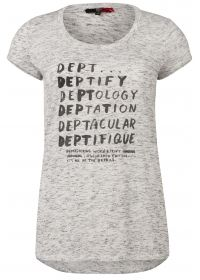 T-shirt met deptify print grijs  -Viscose mix melange jersey  -Logo print  -Recht model  -Korte mouw  EUR 39.95  Meer informatie