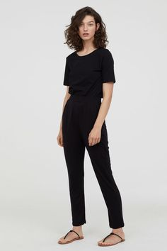 d2d0c4c6284d Jersey Pants - Black - Ladies | H&M US 1 H&m Fashion, Fashion Online,