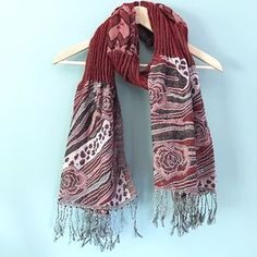 I just discovered this while shopping on Poshmark: Long Rose Print Scarf. Check it out! Price: $11 Size: OS