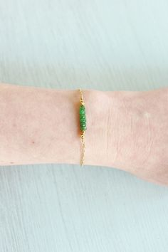 January birthstone tsavorite (like in my bead bar bracelet) is known for its uplifting properties and helps wearers to see inner beauty both within themselves and others ✨ Bronze Jewelry, Green Gemstones, June Birth Stone, Gold Filled Jewelry, Metal Beads, Semi Precious Gemstones, Garnet, Pure Products, Bar
