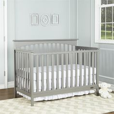 Lowest price online on all Dream On Me Davenport 5 in 1 Convertible Crib in Storm Gray - 6655-SG