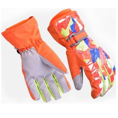 Amazon.com : Ski Gloves Kids, KuYou Waterproof Winter Thickening Skiing Snowboard Gloves for Child Age 6-14 Years Old . : Sports & Outdoors