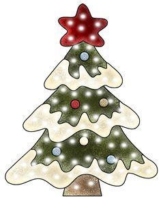 PPS Tree 1 Christmas TeaChristmas ClipartVintage