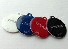 Original Set 4 Color Sony Xperia NT1 SmartTags Ultralight NFC Tags Smart Tag #Sony