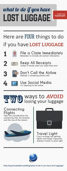 What To Do If You Have Lost Luggage [INFOGRAPHIC] #travel