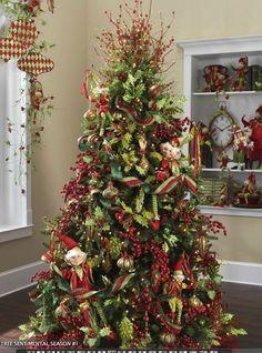 2012 Raz Tree - love the elves scattered through the tree