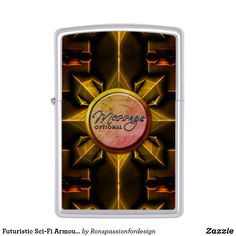 Shop Futuristic Sci-Fi Armour 3 Options Zippo Lighter created by Ronspassionfordesign. Custom Lighters, Lighter Fluid, Design Guidelines, Zippo Lighter, Gold Gifts, Double Take, Good Ole, Stay Classy, Gold Style