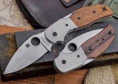 Spyderco: C123WDP - Sage 4 Folding Knife - S30V Blade - Arizonia Ironwood Handles - Titanium Bolsters