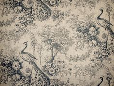 toile curtain-fabric-peacock-black