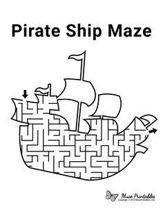 Pirate Kids, Pirate Day, Pirate Birthday, Pirate Theme, Pirate Activities, Holiday Activities, Preschool Activities, Pirate Preschool, Activity Sheets For Kids