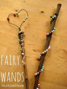 Beautiful {and simple} way to make a magic fairy wand