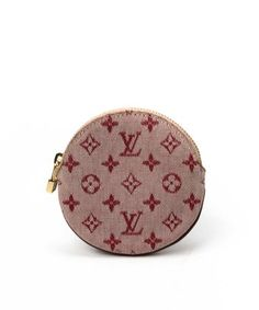 53dca9c3360a style Pre-Owned  Pink monogram canvas coin case
