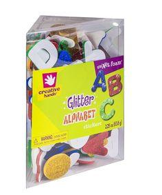 Amazon.com: Creative Hands by Fibre-Craft Foam Glitter Stickers 2-1/4-Ounce, Alphabet