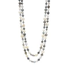 "Multi Coloured South Sea 64"" Necklace"