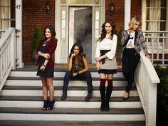 "Pretty Little Liars S4 Cast: Troian Bellisario as ""Spencer,"" Ashley Benson ""Hanna"" Lucy Hale ""Aria,"" Shay Mitchell ""Emily"""