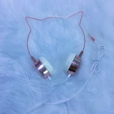 Fone de ouvido gatinho rosé!! Headphone!! Things To Buy, Girly Things, Stuff To Buy, Kawaii Accessories, Jewelry Accessories, Cute Headphones, Accessoires Iphone, Accesorios Casual, Kawaii Clothes
