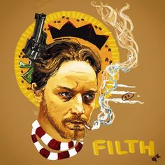"""Here we are. Bruce Robertson from """"Filth"""" by James McAvoy, my dears. Do not ask questions. Just enjoy the drowing c:"""