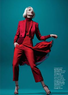 Blazing Crimson Editorials : Vogue Germany February
