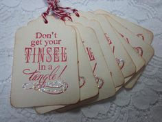 Handmade Vintage Style Christmas Gift Tag  Don't Get by wkburden, $4.50