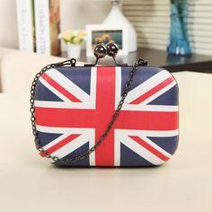 2016 New Women Day clutch purse evening bags British Union Jack the minichain fashion women Messenger Bag  jS296